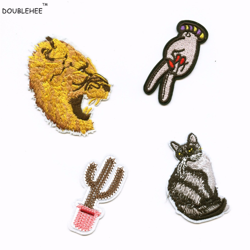 Colorful Victory Sign 2.3CM*6.7CM Patches Iron On Or Sew Fabric Sticker For Clothes Badge Patch Embroidered Appliques DIY