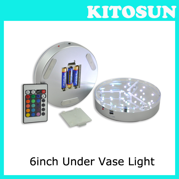 Weddding party Decoration Light Multicolor LEDs Under vase base coaster Stand With remote 6inch rechargeable