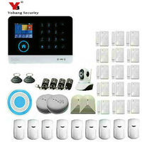 Yobang 보안 와이파이 gsm 경보 시스템 tft 안드로이드 ios app 터치 키패드 안드로이드 iso app 스마트 홈 도난 경보 시스템