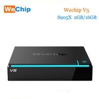 Original Wechip V5 Android Tv Box S905X Quad Core 2G 16G Kodi 16 1 Tv Boxes