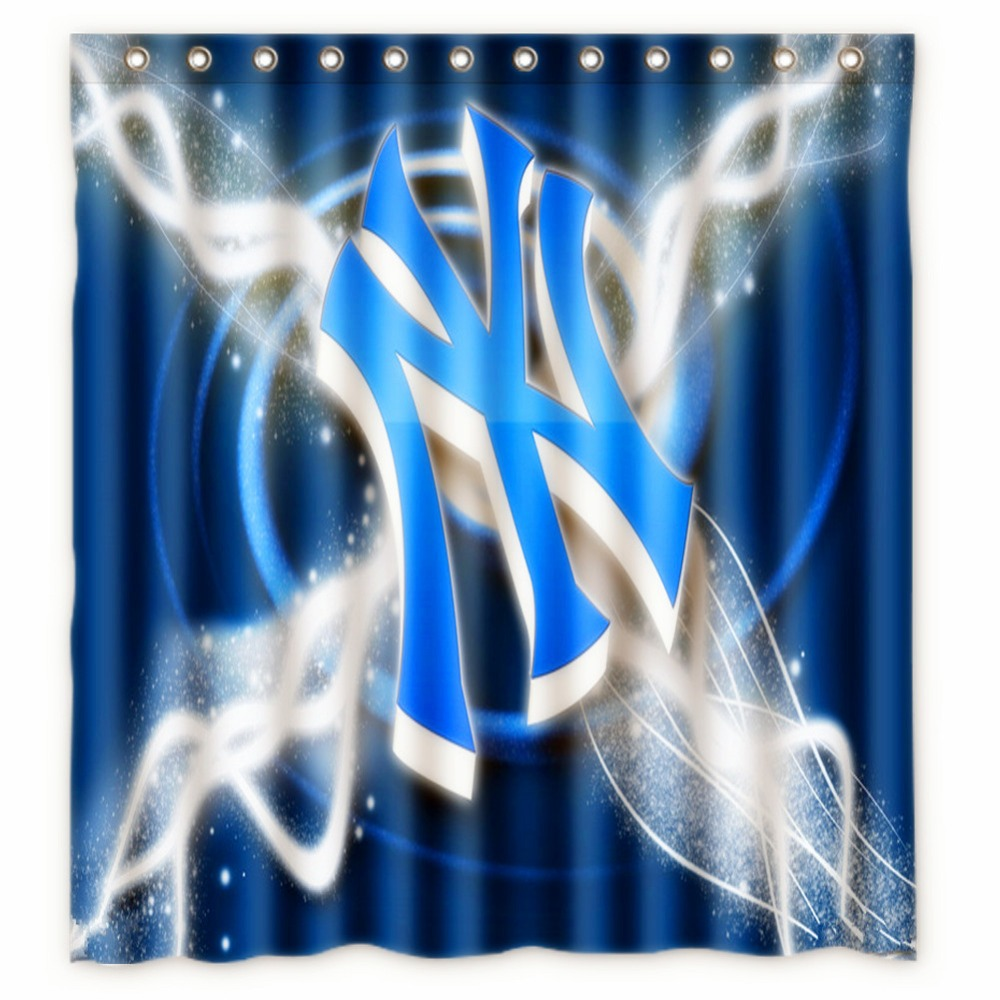Anime Shower Curtain One Piece Dragon Ball Z Bleach Fairy Tail Naruto Together New York Yankees 66x72 Inch