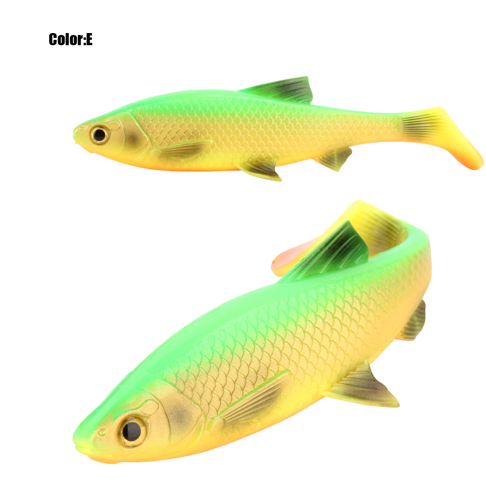 RoseWood 5g 10g 20g 40g 3D Soft bait fishing lure Silicone Shad plastic lures Roach Paddle Tail 3D scanned Lively kicking action  (9)
