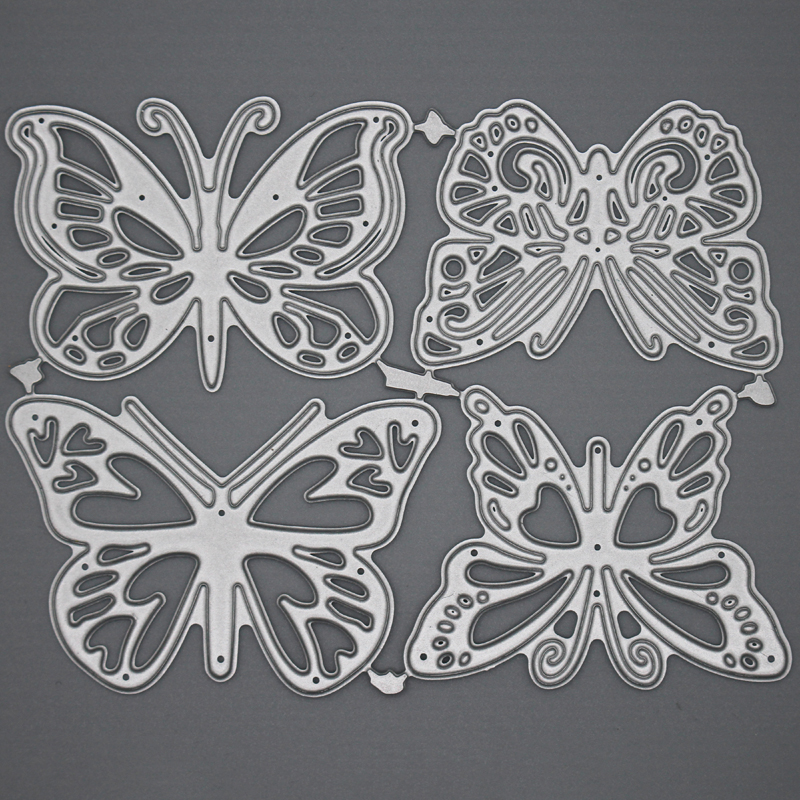 Butterfly Metal Steel Cutting Embossing Dies For Scrapbooking Paper Craft Home Decoration Craft 11.3*8.7 Cm