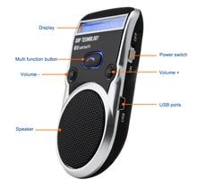 Solar Powered Bluetooth Car LCD Display Caller ID Hands Free Bluetooth Speaker