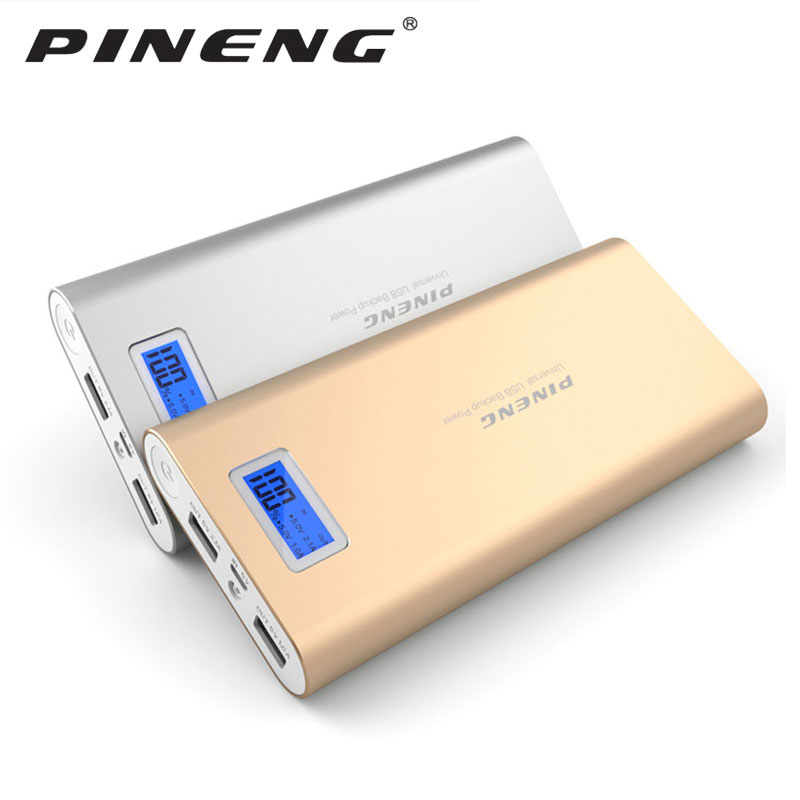 Original PINENG PN-989 métal 20000 mAh double USB externe chargeur de batterie Mobile batterie externe pour Xiaomi huawei Samsung iPhone
