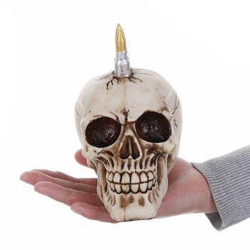 MRZOOT Resin Craft Home Decorations Skeleton Skull Bullet Model Punk Style Decoration Personalized Ornaments Bar Decoratio