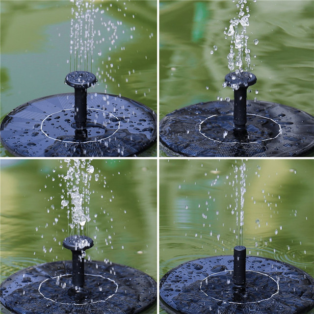 US $25 35 24% OFF|2018 HOT 2Pcs Solar Power Bird Bath Fountain Water  Floating Pond Garden Patio home party garden decoration #0425-in Party DIY