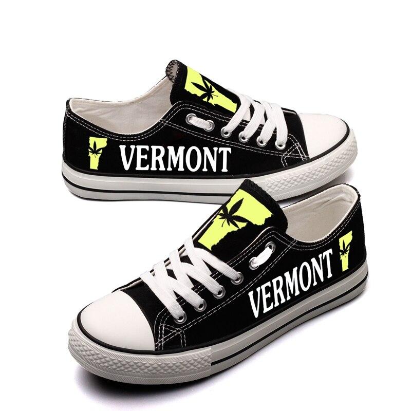 Dentelle Sapato T Unique 00000 Toile Appartements Personnalisé Vermont dir44h Américain Imprimé Nous lov Occasionnels Chaussures State Noir Hommes D'été up Logo E Aqwpx