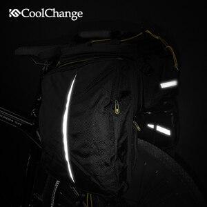Image 4 - CoolChange su geçirmez bisiklet çantası 35L çok fonksiyonlu taşınabilir bisiklet arka koltuk kuyruk çantası bisiklet çantası omuz çantası aksesuarları