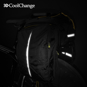 Image 4 - Coolchange saco de bicicleta à prova d35água 35l multifuncional portátil ciclismo traseiro saco da cauda bolsa ombro acessórios