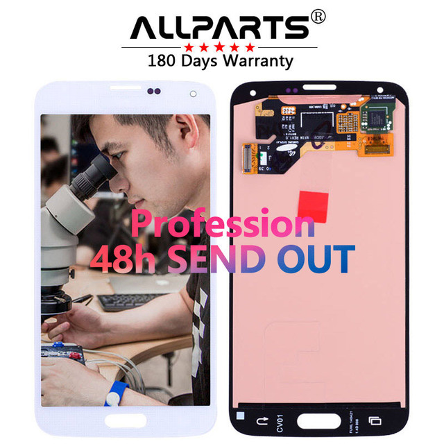 Tested 5.1'' Super AMOLED LCD for SAMSUNG Galaxy S5 LCD Display i9600 G900 G900F G900M G900H SM-G900F Touch Screen Digitizer