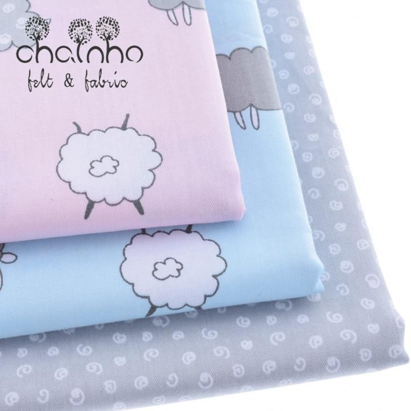 Tela de algodón impreso telas Patchwork para coser colcha Scrapbooking tejido patrón de costura Material tela de cortina CC002