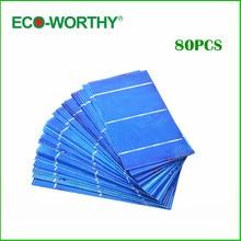 80 pcs Untabbed 3×6 Polycristallin Cellules Solaires Poly Cellule Solaire USA Usine Faite de Cellules Solaires pour les Panneaux Solaires