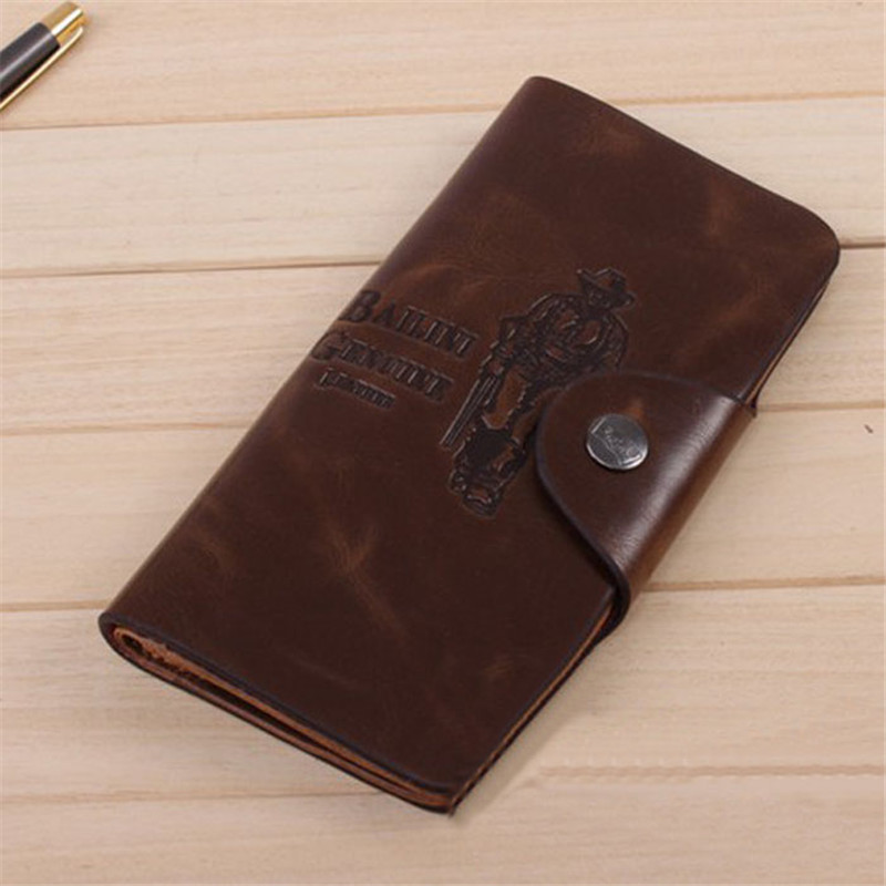 2017 Mens Leather Wallet Long Pockets ID Card Clutch Bifold Purse Men's Busienss Wallets Purse sacoche homme carteras mujer women short wallet vintage coin purse clutch clip lovely animal prints soft leather small purse carteras mujer sacoche homme