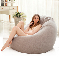 Bean Bag Sofa Cover Lounger Chair Sofa Seat Living Room Furniture Without Filler Beanbag Sofa Bed Pouf Puff Couch Lazy Tatami