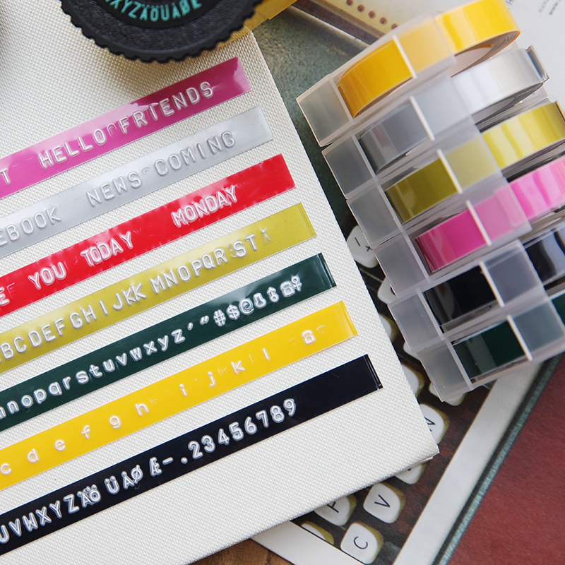 9mm*3m DIY Label Maker Tape Writer Office Gift Label Adhesive Tape Scrapbooking Marker Embosser Tape