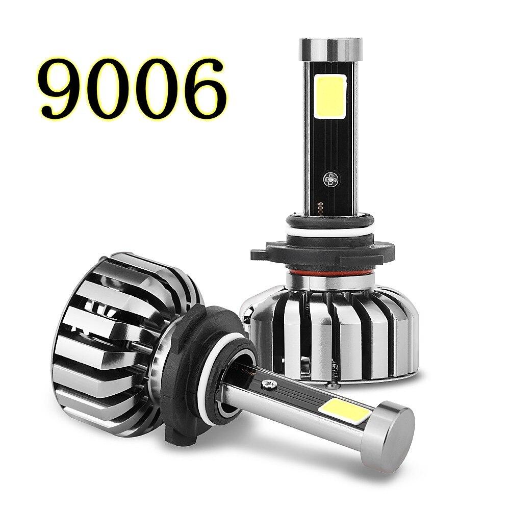 2PCS Superbright 9006 LED Car Headlight Bulbs 8000Lm 80W COB 6000k 12V Auto Led Headlamp Fog lamp light Car styling