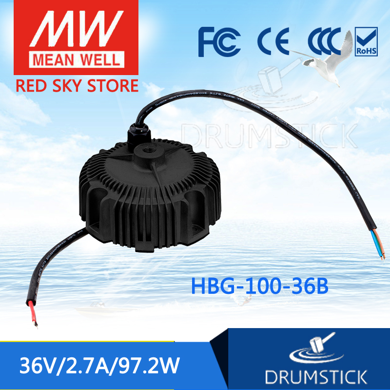 100% Original MEAN WELL HBG-100-36B 36V 2.7A meanwell HBG-100 36V 97.2W Single Output LED Driver Power Supply 100