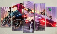 5 Piece Frameless Wall Picture For Room Canvas Painting Gta 5 Poster Anime Prints Christmas Pictures