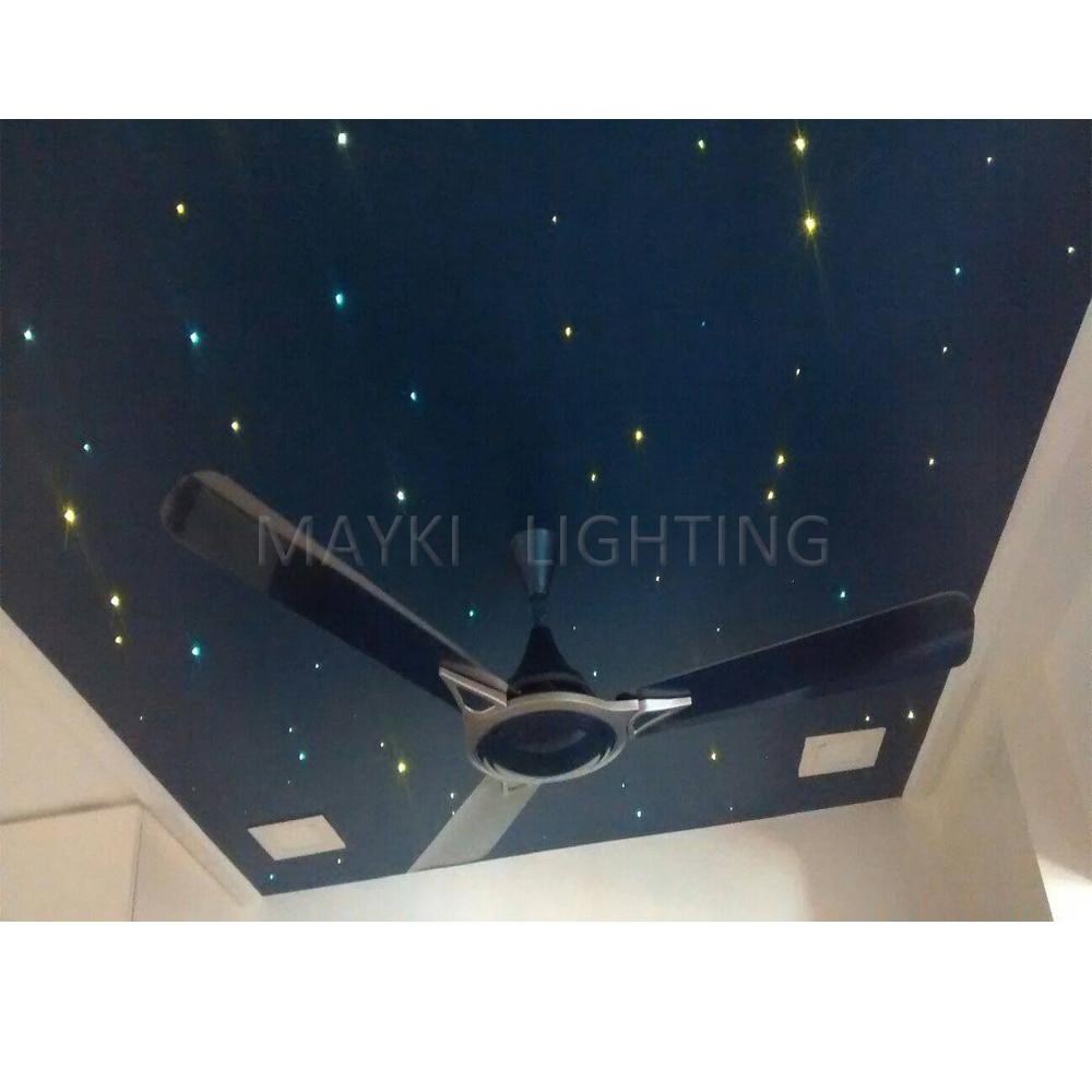 все цены на Maykit Dc 12v 12w Rgbw DMX Led Optical Fiber Light Source Multi-Color Changing DIY Star Ceiling Xms Tree For Christmas онлайн