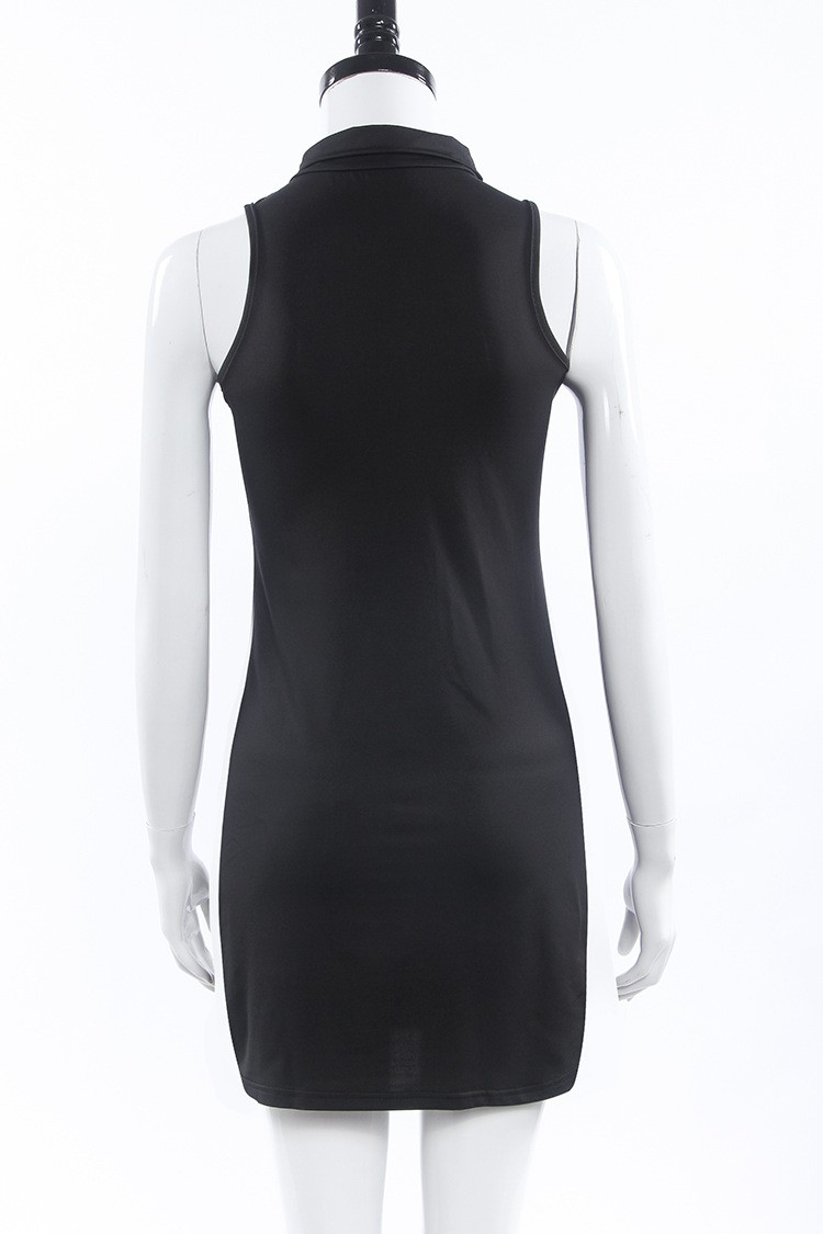Plus Size Black Turtleneck Dress