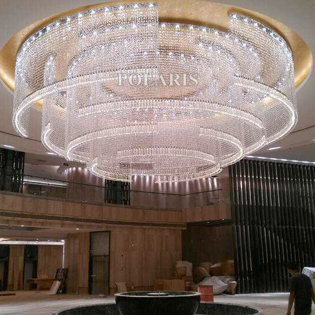 Hotel Lobby Crystal Chandelier Lighting Modern Luxury