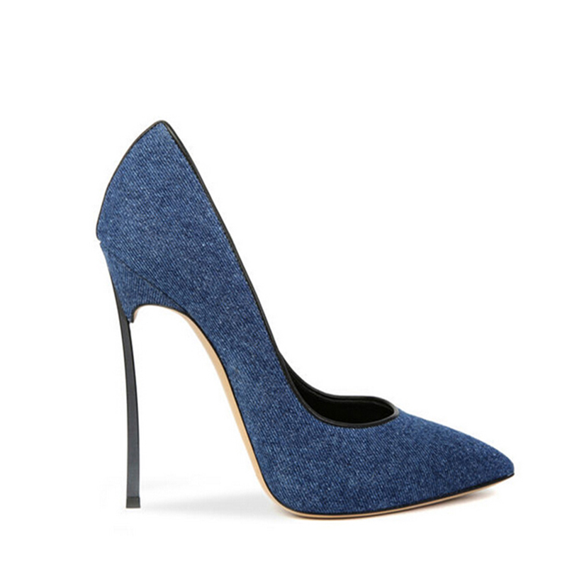 Lady Chaussures D'été Denim 2018 42 La 34 Taille Sxq0627 Pompes Nouvelles Cut Low Femmes Plus Mode Jeans Sexy Bout Pointu Talon Bleu Mince Haute qE47AwPE