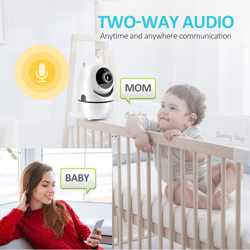 Hot HD 1080P IP Camera WiFi Wireless Baby Monitor Night Vision Auto Tracking Home Security Surveillance CCTV Network Mini Cam
