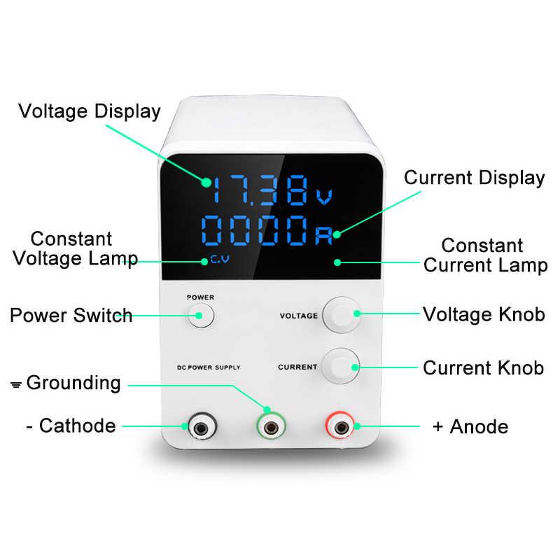 Мини Регулируемый Цифровой DC лабораторный выключатель питания Многофункциональный светодиодный лабораторный источник питания настольный источник питания