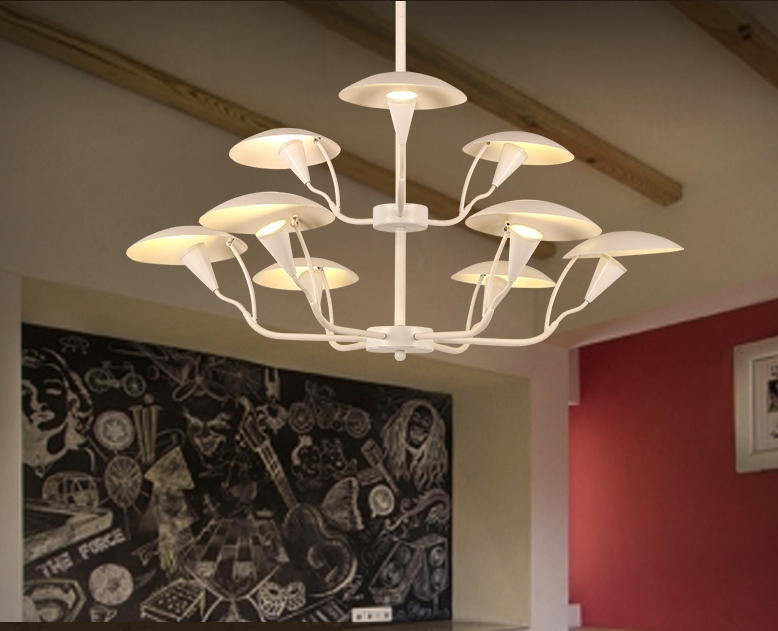 Chandeliers Salon Chandelier Store Living Lighting Room Modern Simple Iron Bedroom Study Restaurant Clothing Creative Led Lamps