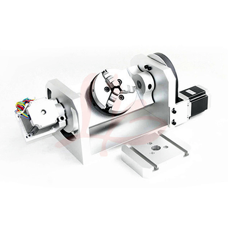 CNC Accessories 4th 5th CNC Rotary Axis With Chuck For CNC Cutting Machine Part Tool
