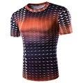 2017 Новый Дизайн Случайные Люди Майка Бренд Clothing Лето Quick Dry Fit camisa masculina Slim Fit Лоскутная Футболка Homme A8829