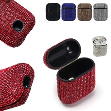 Luxury Diamond Decorative Case For Apple AirPods Case Accessories Wireless Bluetooth Earphone Protective Cover Bag Shell Case