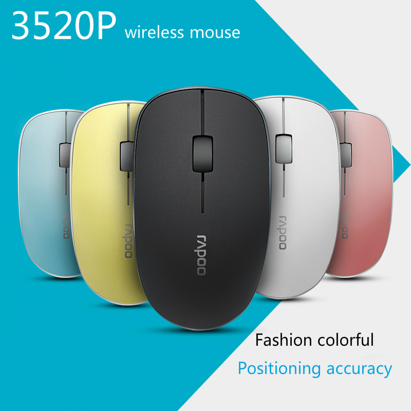 Rapoo 3520P 5G Optical Wireless Mouse USB Gaming Mice with Super Slim Portable Mini Receiver Mice