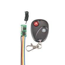 Micro Interruptor de Controle Remoto sem fio Mini Receptor 3.5 v 3.7 v 4.5 v 5 v 6 v 7.4 v 8.4 v 9 v 12 v Pequeno Transmissor e Receptor de 433.92 Mhz