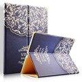 FLOVEME Кожаные Чехлы Для iPad mini 1 2 3 4 iPad air 1 2 Мода Ультра Тонкий Цветной Рисунок Pattern Flip Стенд Противоударный Coque