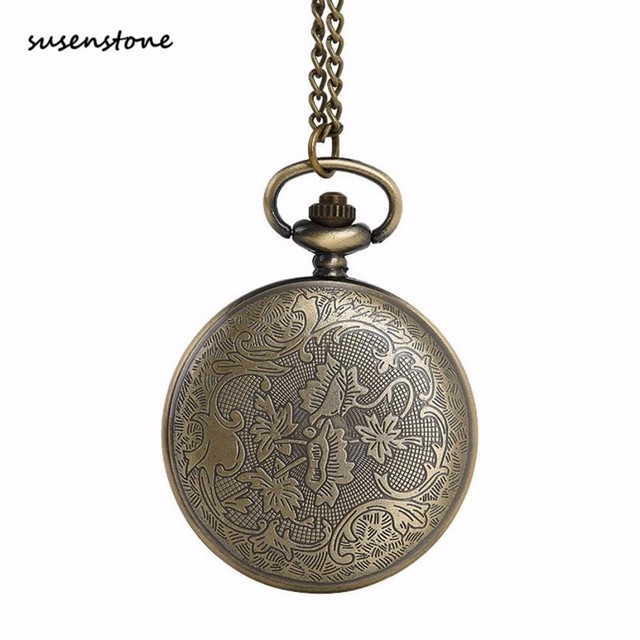 Susenstone The Greatest Pocket Watch New Fashion Men Pocket Watch Necklace For Grandpa Dad Gifts 40