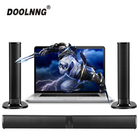 DOOLNNG 20W(Detachable)Wireless Bluetooth Column Soundbar Stereo TV Speakers Home Theater Built in Battery Sound Bar TF USB FM