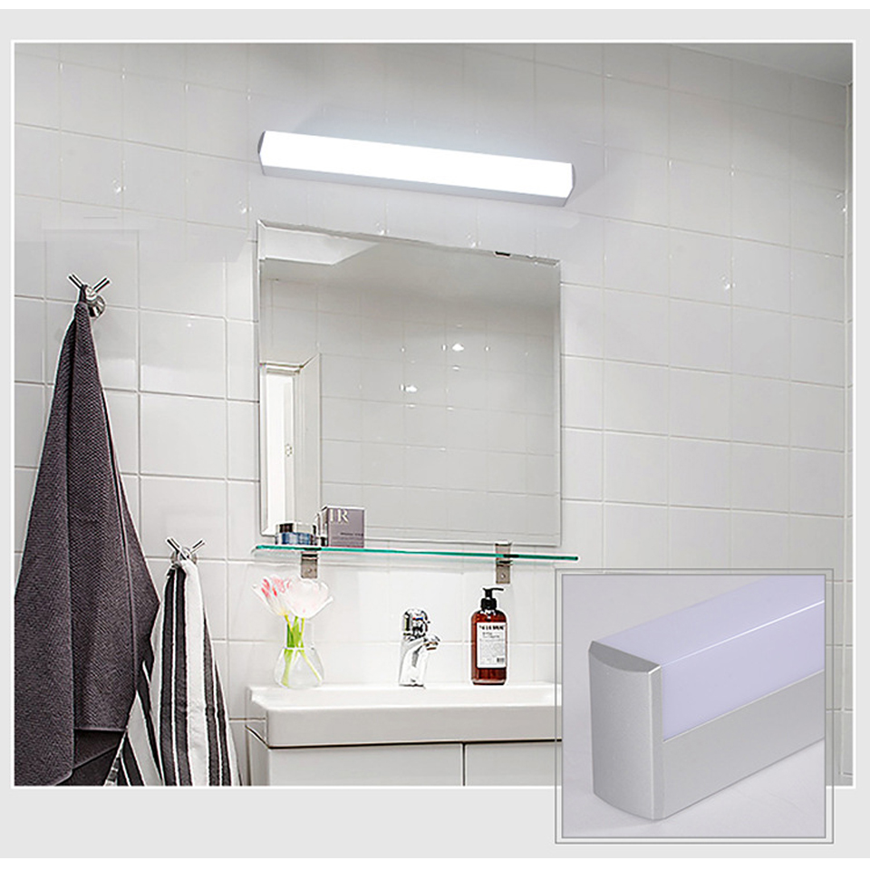 Xsky Modern Bathroom Lights Vanity LED Light 12W 25CM 16W 40CM 22W 55CM 85-265V Front Mirror Toilet Wall Lamp Fixture Waterproof(China)