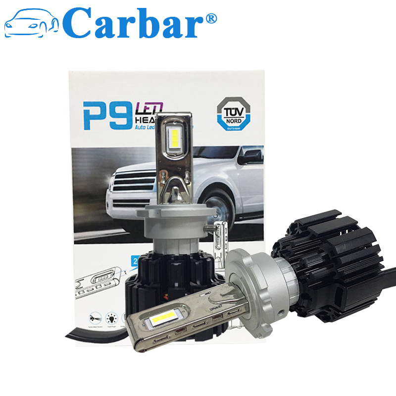 Carbar# P9 LED D1S D2S D3S D4S Headlight Bulbs High Quality LED Chip All In One Conversion Kit 50W 6800LM D1/D2/D3/D4 Universal christmas gift boxes printed waterproof fabric table cloth