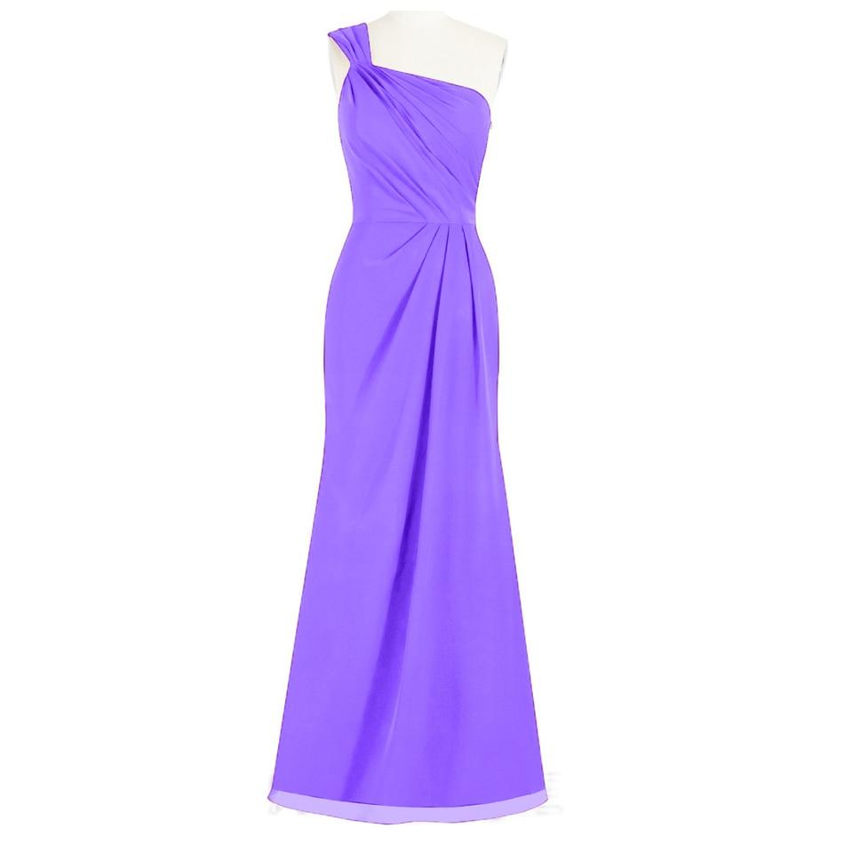 Mermaid Bridesmaid Dresses Long Purple Bridesmaid Dress Chiffon ...