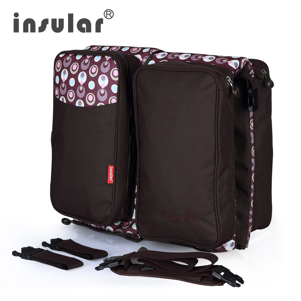все цены на Insular Multifunctional Infant Baby Diaper Bag Baby Travel Foldable Bed Mommy Nappy Changing Bag