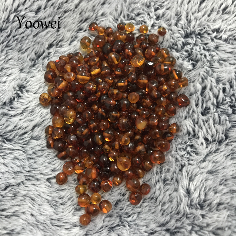 Yoowei Baltic Amber Loose Beads for Jewelry Making with Drilled Hole Certified Natural Amber Bead 10g 20g diy Gemstone Wholesale