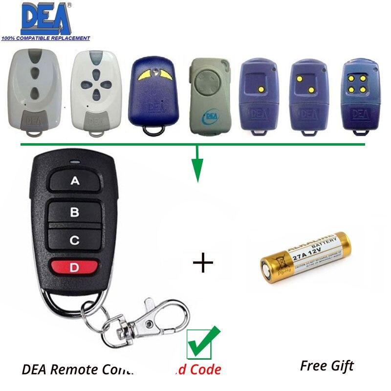 Gate Hand Remote Control 4 button Fixed code remote Clone/Duplicator DEA MIO TD 2/4 2pcs rib sun t433 2ch 4ch 4 button garage door hand remote key copy duplicator fixed code
