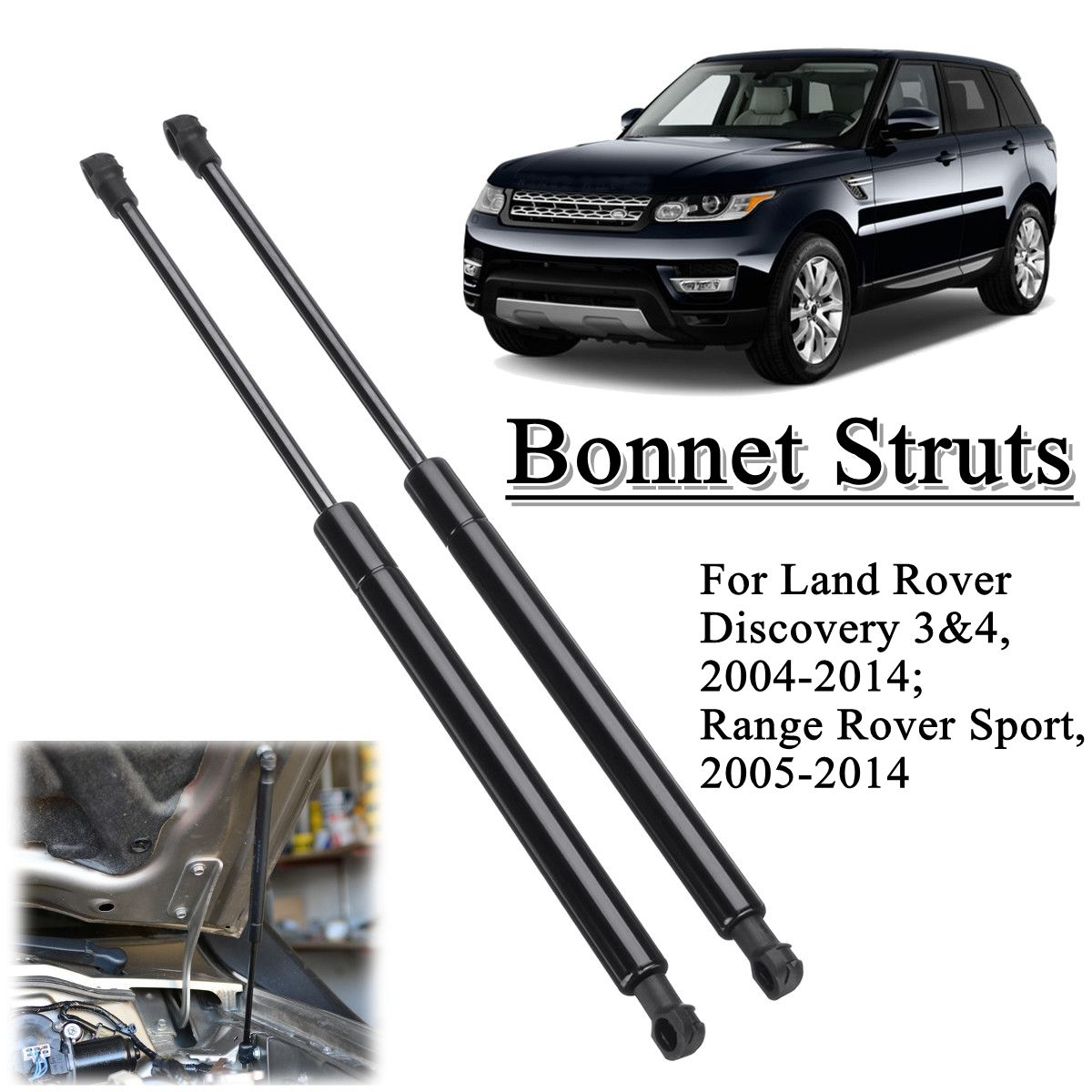 2pcs Front Bonnet Hood Support Gas Struts LR009106 For Land Rover Discovery /Range Rover Sport 2004-20142pcs Front Bonnet Hood Support Gas Struts LR009106 For Land Rover Discovery /Range Rover Sport 2004-2014