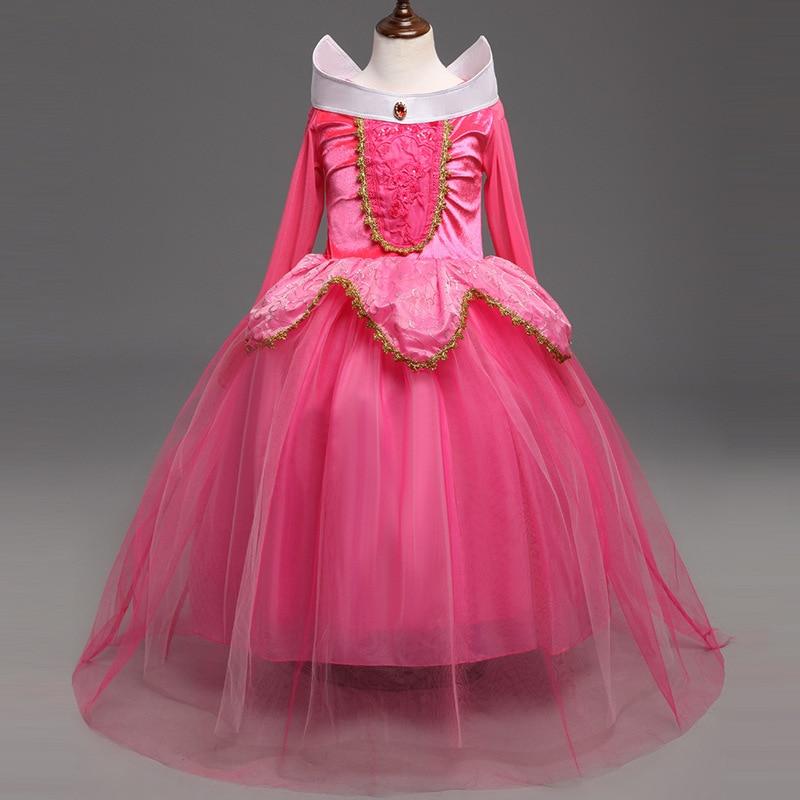 Halloween Girls Princess Fancy Dress Up Costume Outfits: 2016 Kids Girls Sleeping Beauty Costumes Dress Carnival