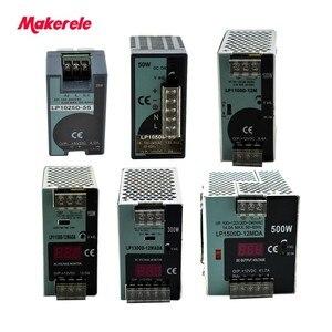Image 1 - LP Serisi Din Rail tek çıkış anahtarlama güç kaynağı 25 W 50 W 100 W 150 W 300 W 500 W Dijital Ekran 12/24 V ac dc Ce ile onaylaması