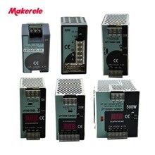 Seria LP przełączanie pojedynczego wyjścia na szynę Din 25W 50W 100W 150W 300W 500W wyświetlacz cyfrowy 12/24V ac dc z aprobatą Ce