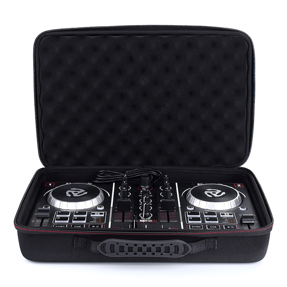 Built In Travel Handle Newest Eva Hard Carry Case For Numark Party Mix Starter Dj Controller Hard Shell Exterior Padded Foam