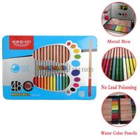 36 48 60 72 Colors Metal Box Wooden Water Color Pencils Lapis De Cor Professional Drawing